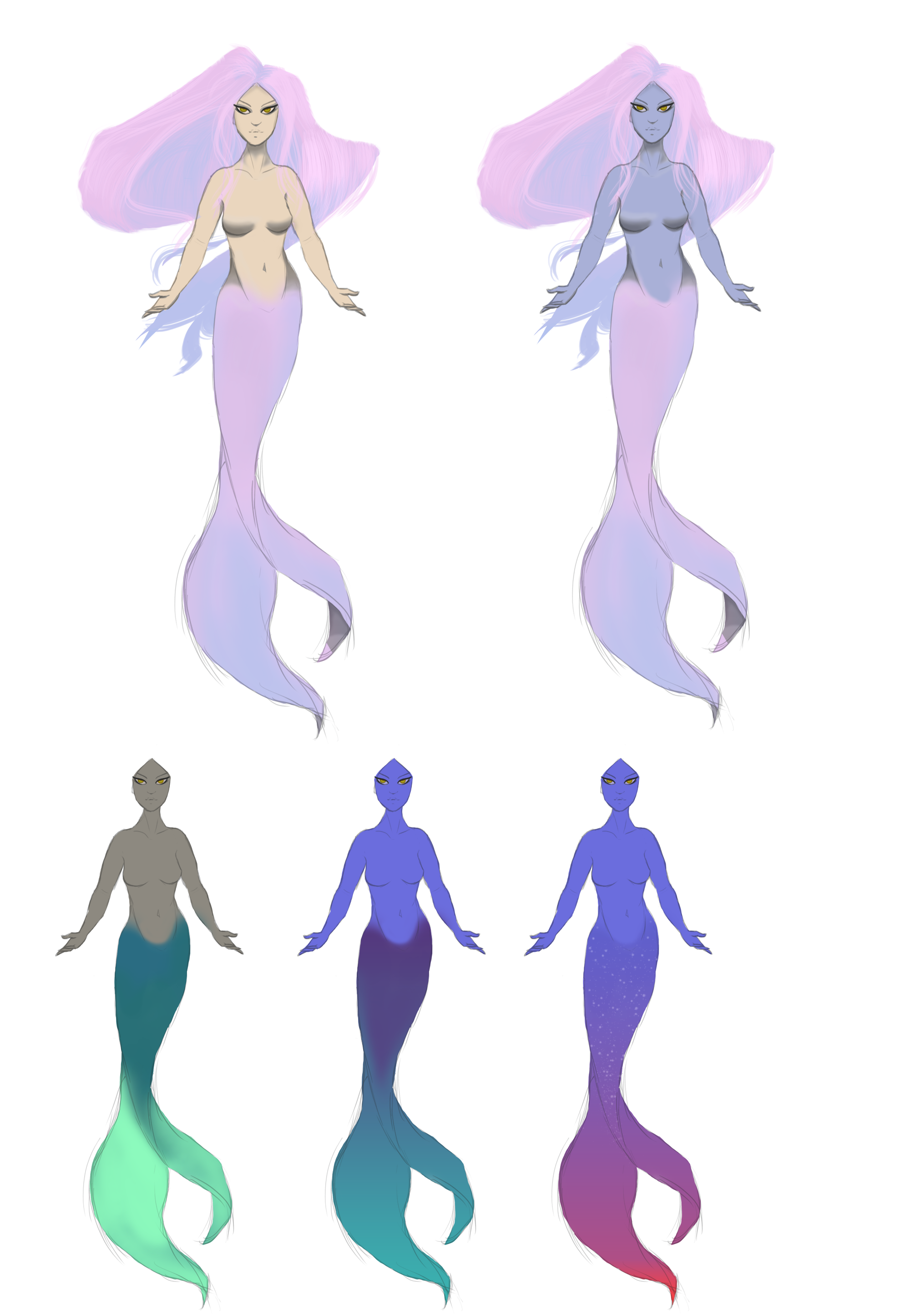 The first mermaid concepts