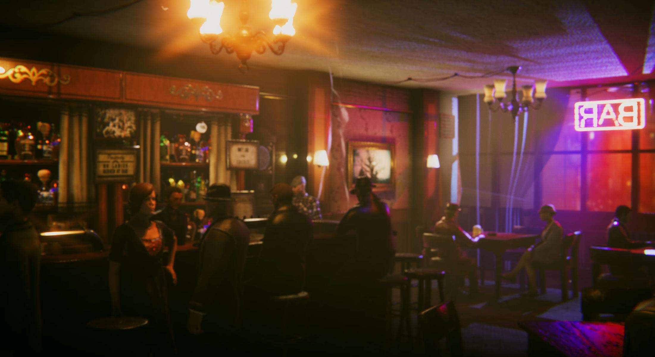 Joe bar scene