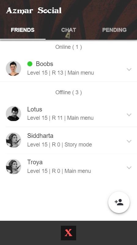 Azmar Friends / Chat system