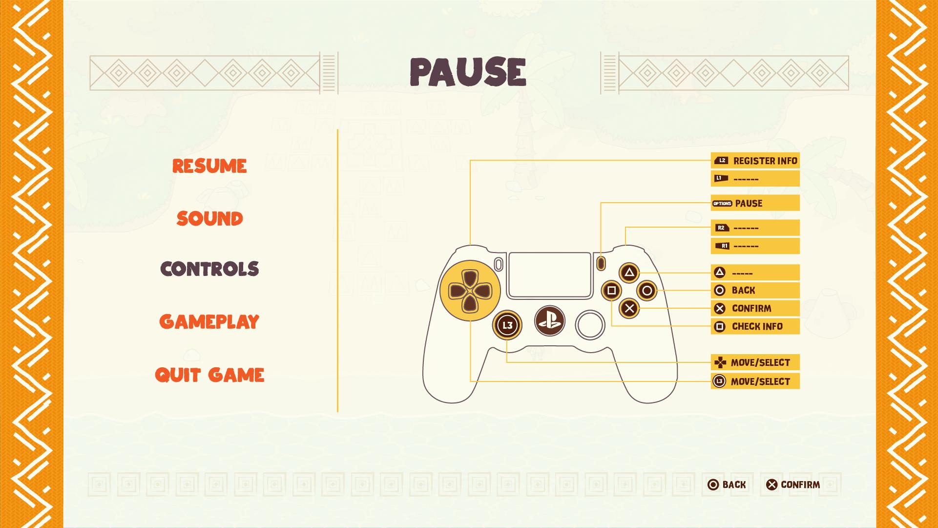 Njinga UI Pause Controls