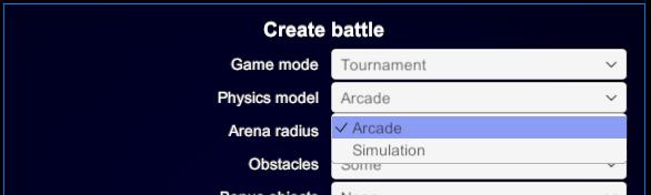 physics mode selection