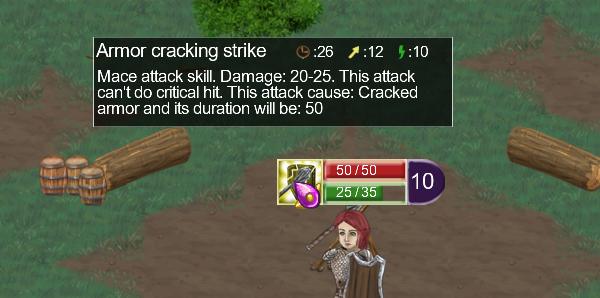 Armor cracking strike