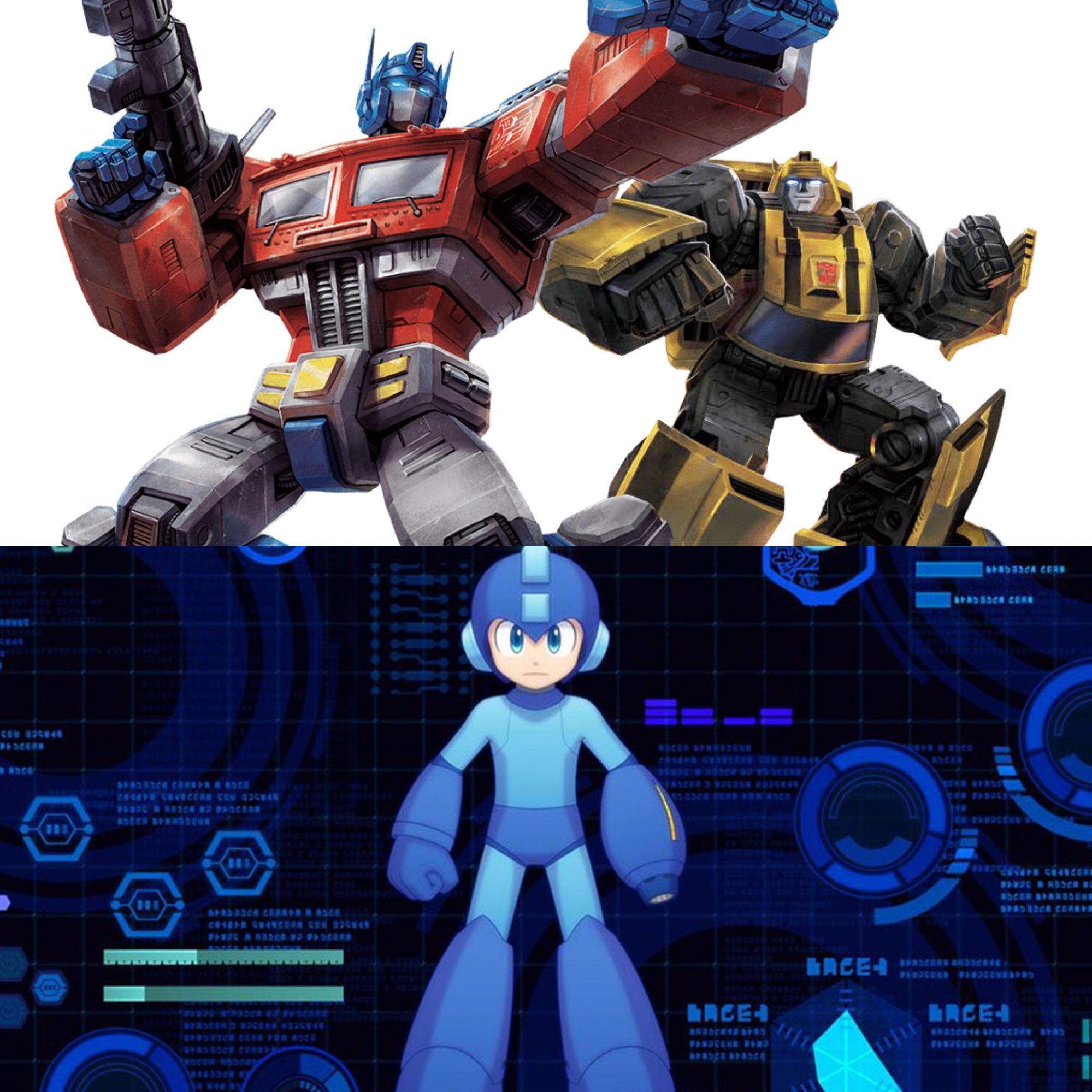 PicsArt: Megaman & Transformers