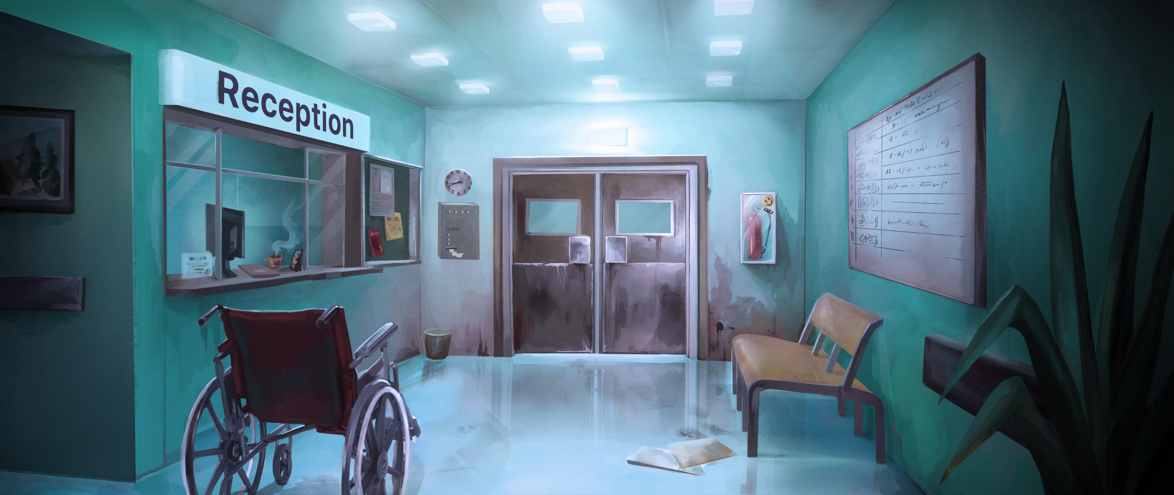 ep 2 lokacja hospital reception