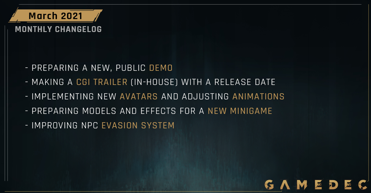 GD changelog mar li