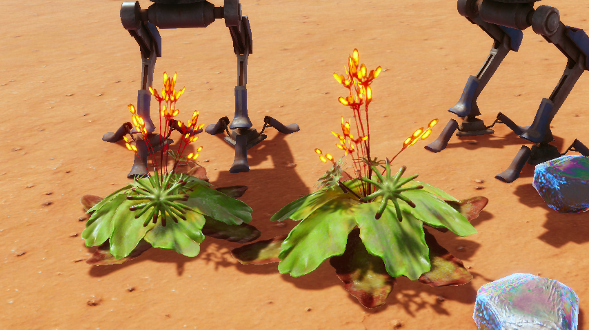 Hostile Mars Bots and Moss f