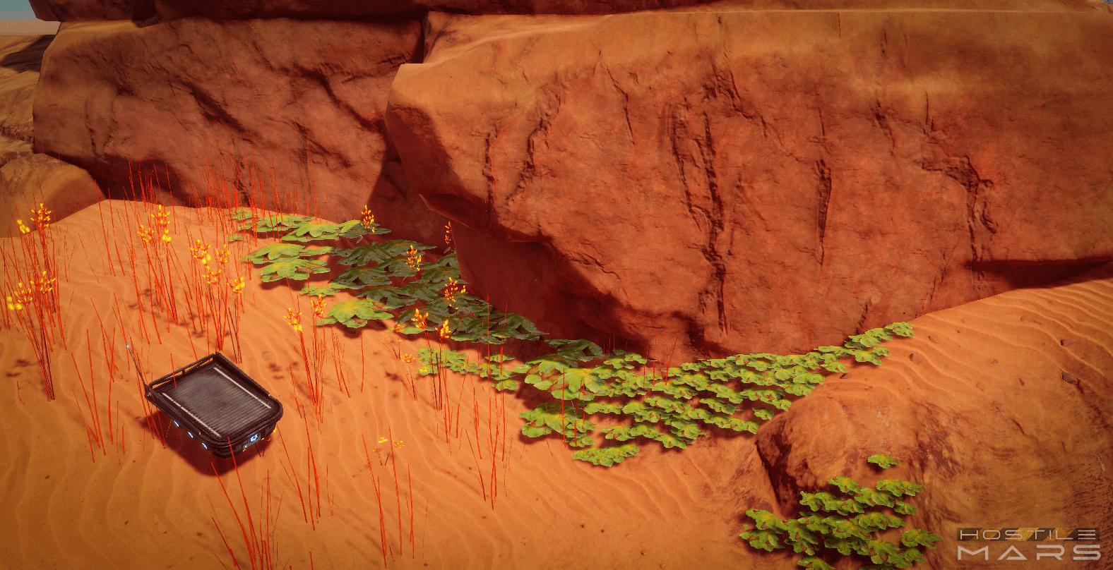 Hostile Mars Lichen Plantlife mi