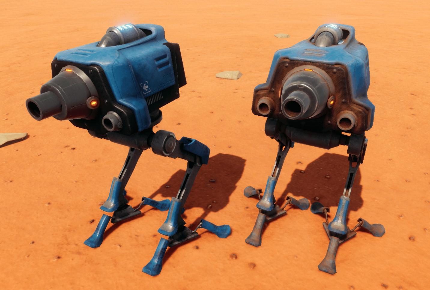 Hostile Mars Walker Bots 2 min