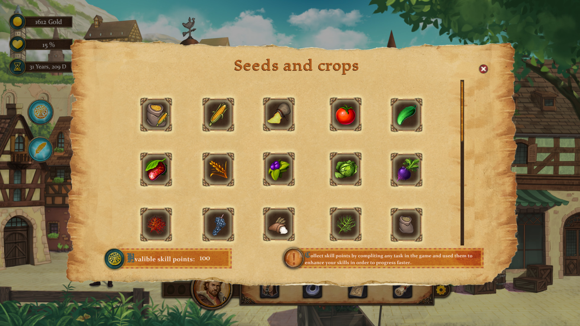 Rising Mist - Crops and Seeds