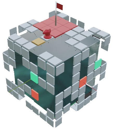 Initial game concept Top View