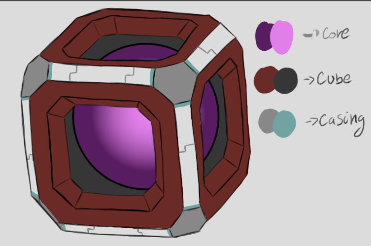 one of the initial concepts for a generic cube for the portal.