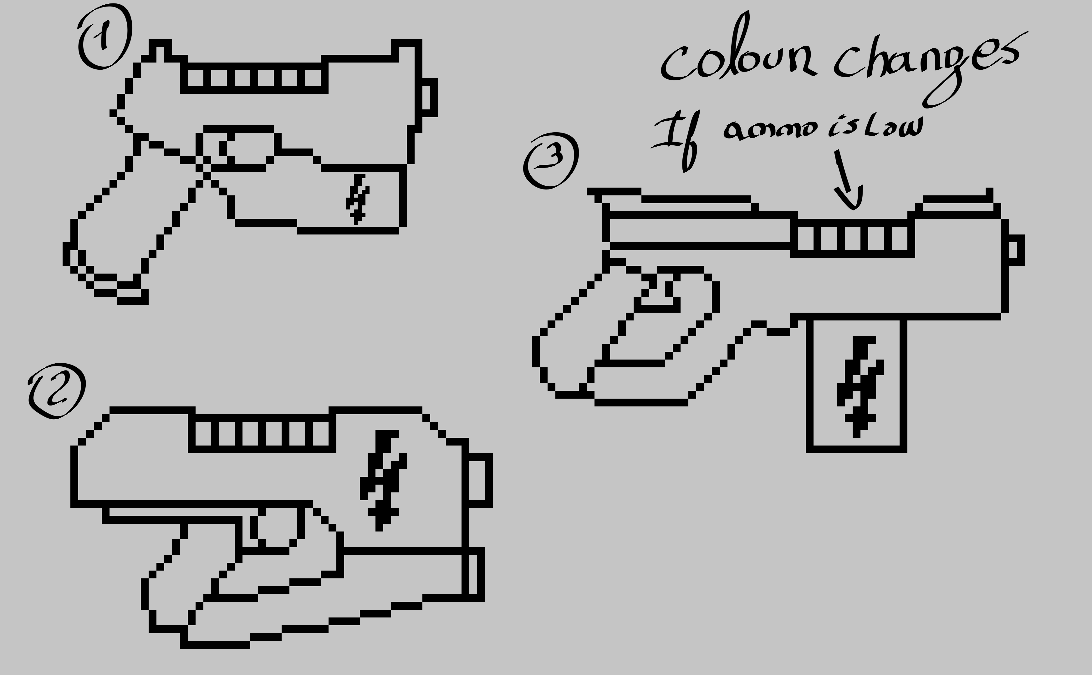 The Gun Pixel 1