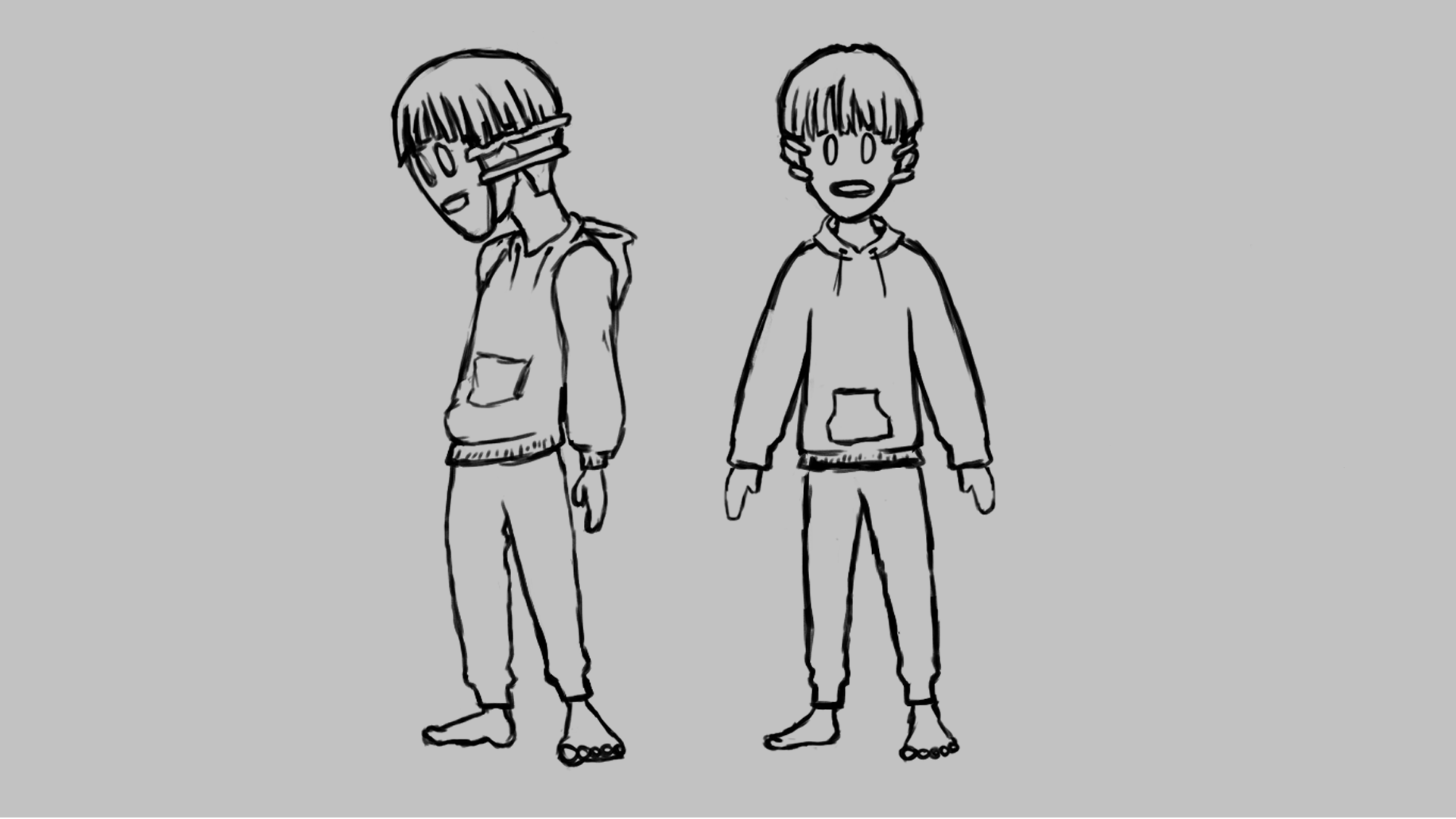 Final Sketch for Alex, main character of Oizys
