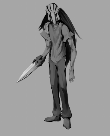 The 2nd out of 3 characters conceptualized