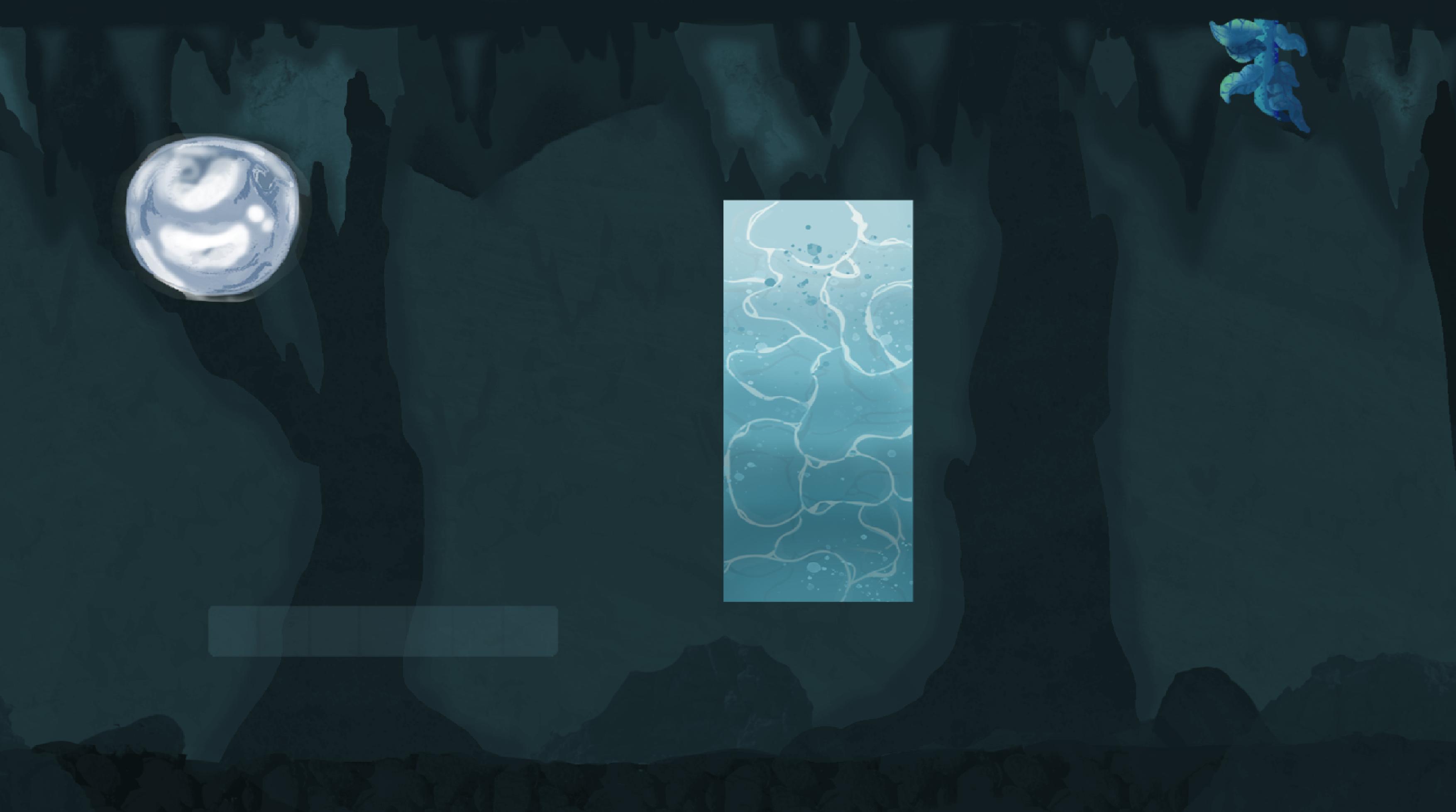 Blue environment elements concept