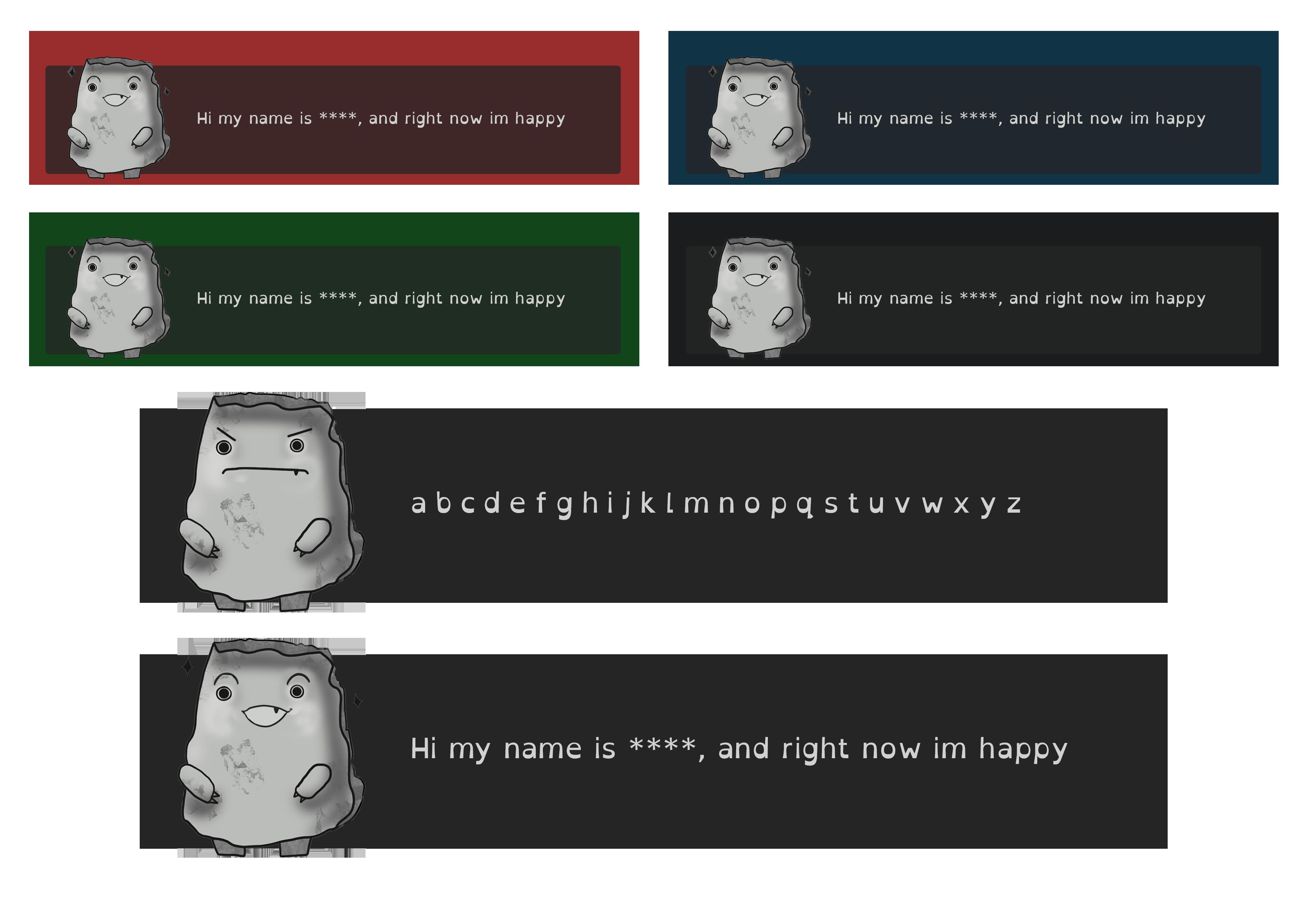Dialogue box examples