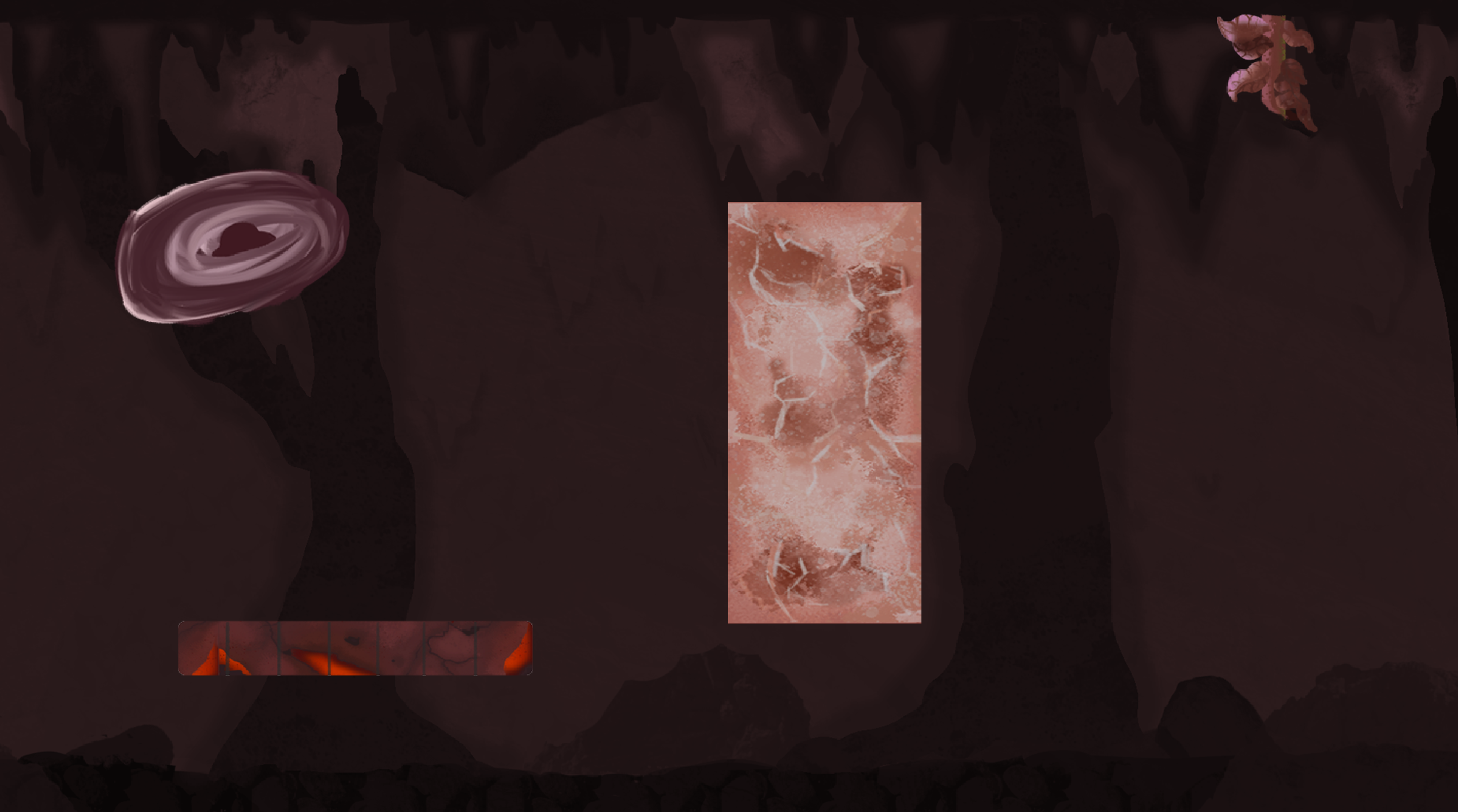 Red environment elements concept