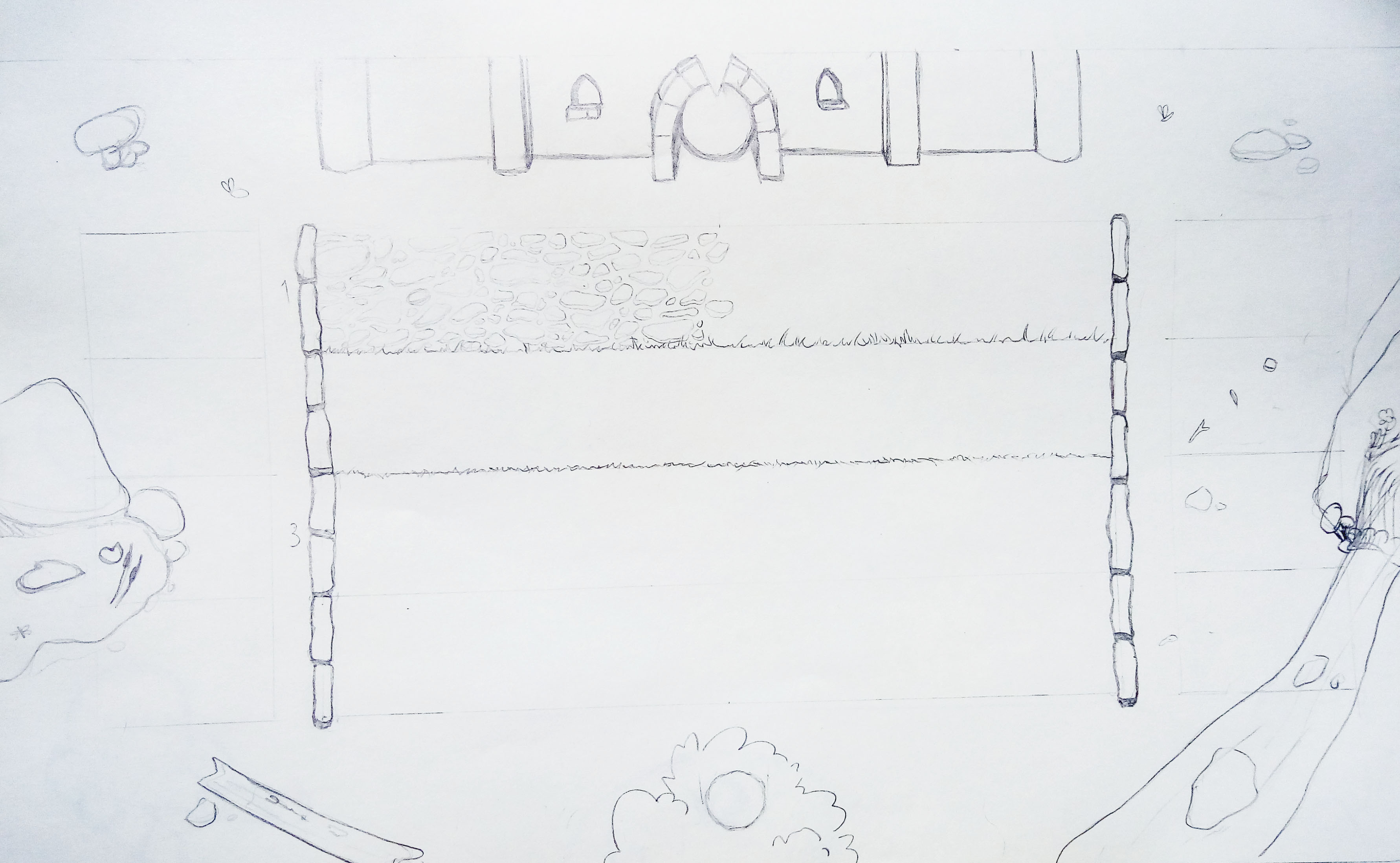 Game Boards Environment Sketch 1