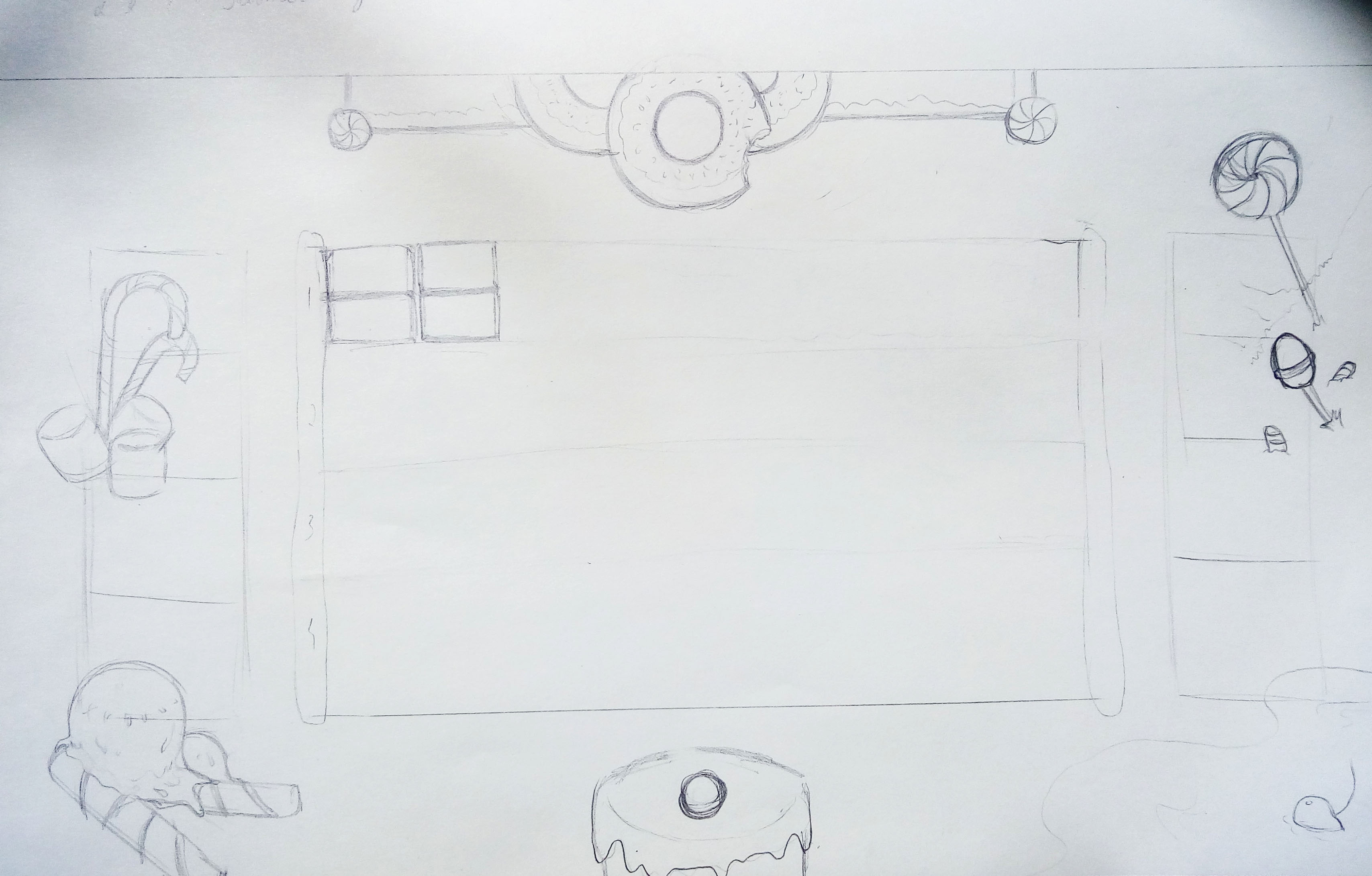 Game Board Environment Sketch 2
