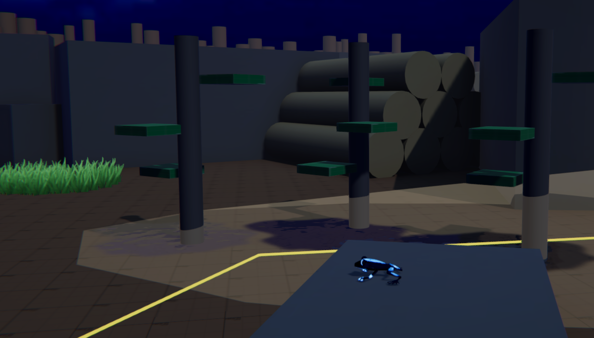 Gameplay area with playable character