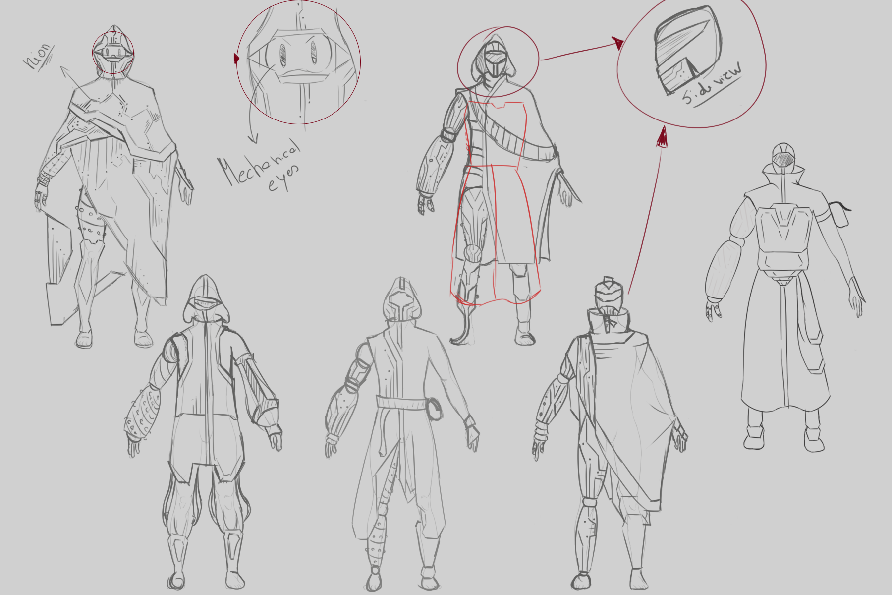 Character Design Rough Sketch 1