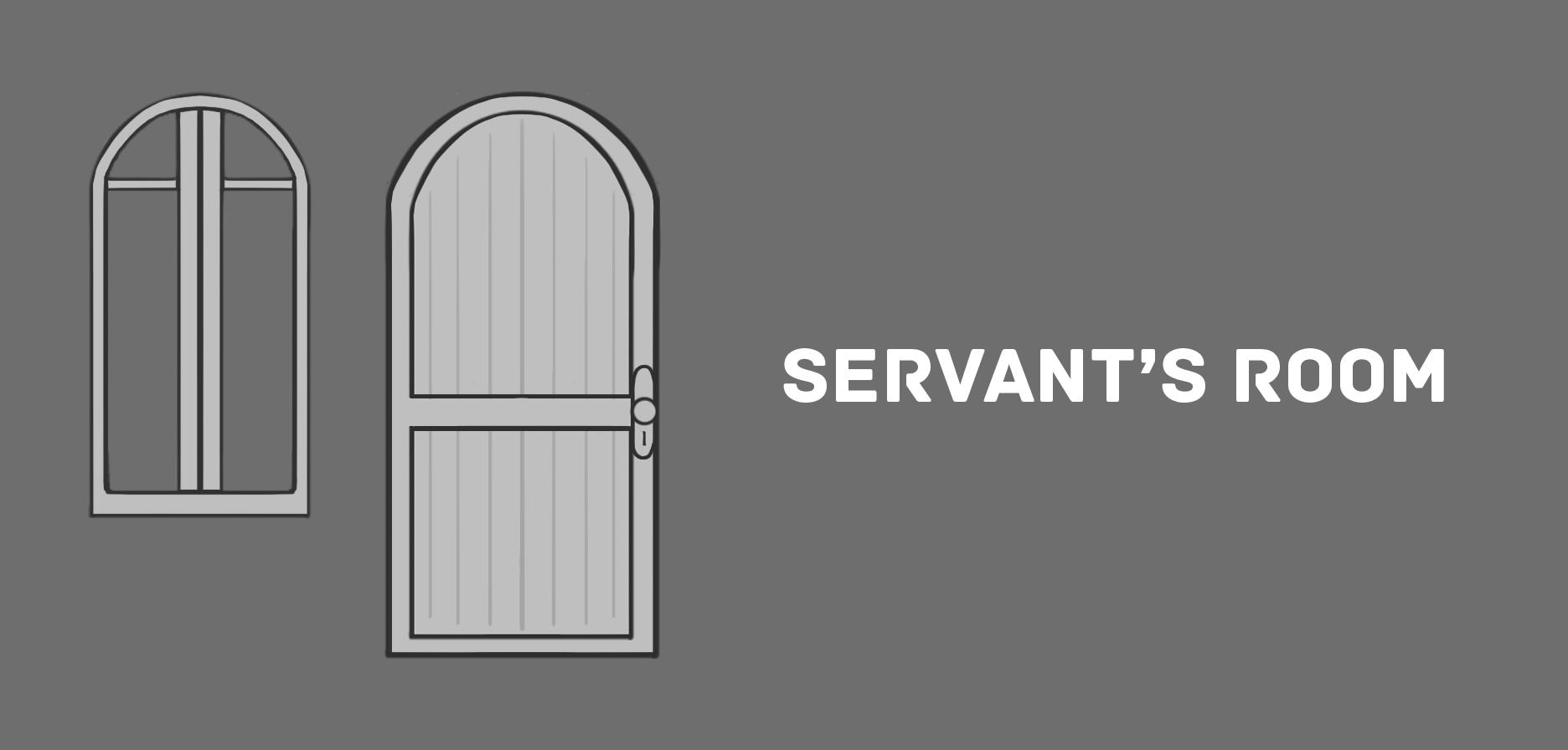 6a ED23 Servants Room Door and