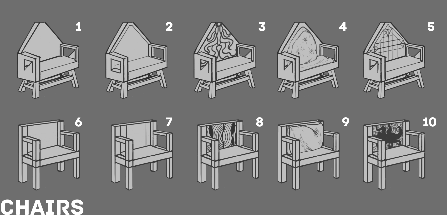 7c RD1 Chair Sketches